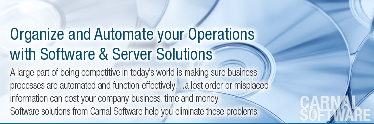 Organize and Automate your Operations with Software & Server Solutions